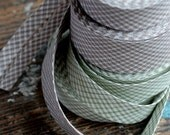 Linen bias tape - woven check linen - width 2 and 3 cm