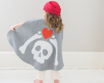 SALE Pirate Cape Hidden Treasure Map - Pirate Costume - Pirate Treasure - Pirate Cloak - Buried Treaure - Birthday Gift for Kids