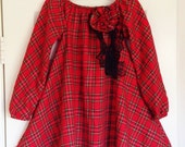 Christmas Plaid Dress Sizes 4 and 5