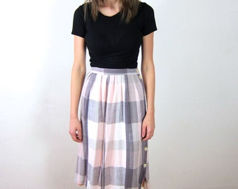 Pretty Plaid High Waisted Skirt