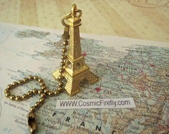 Eiffel Tower Fan Pull Chain Steampunk Fan Pull Gold Ceiling Fan Pull French Souvenir From France