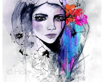 Laila // LIMITED EDITION Giclée print - fashion illustration by Holly Sharpe