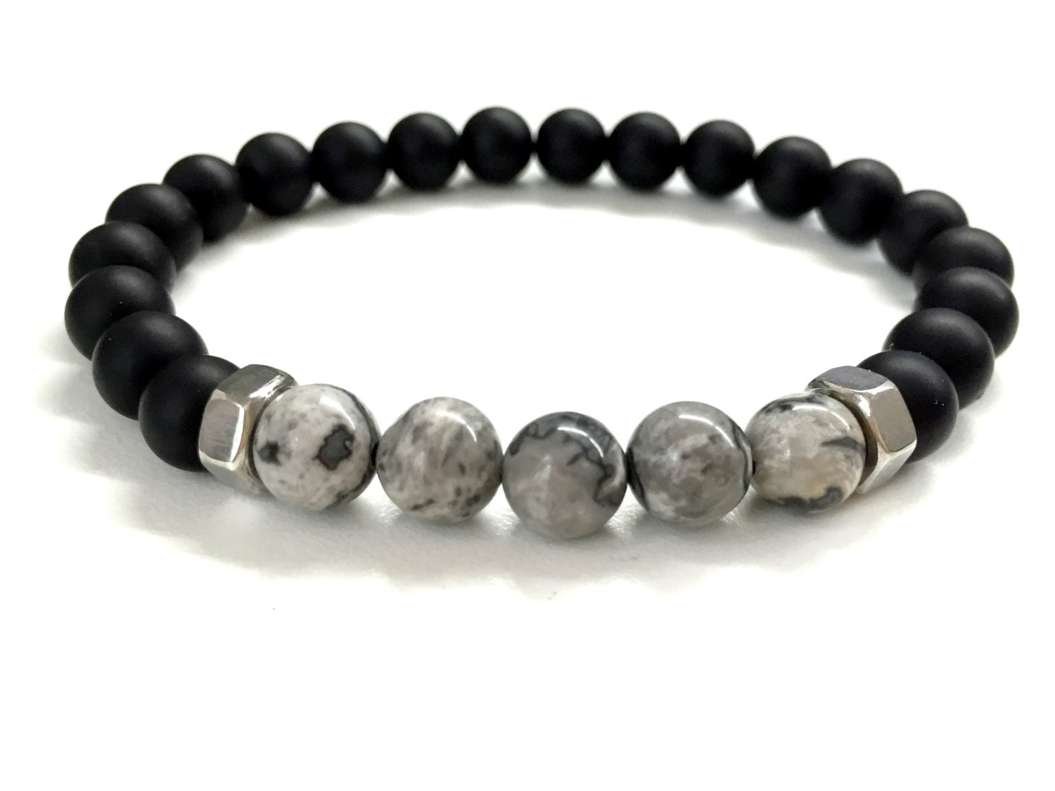 Men S Bead Bracelet Men S Stone Jewelry Stretch