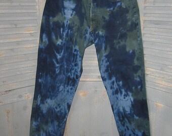 Reclaimed DIESEL Jeans, Tie Dye, Rocker, OOAK, Denim