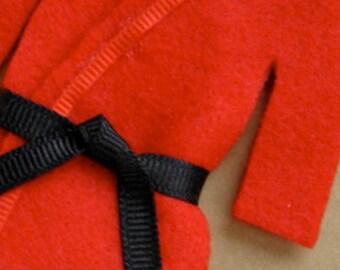 Martial Arts Christmas Ornament- Personalized Belt - Uniform with Name / Year - RED Top/BLACK Pants Uniform TaeKwonDo Karate JiuJitsu Bando