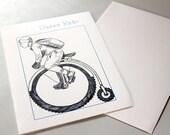 Bike Rider Blank Card - Sweet Ride - Bicycle Enthusiast