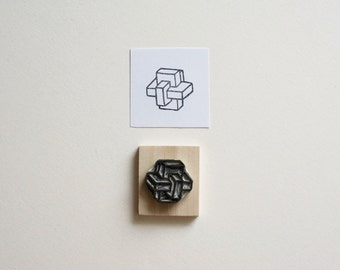 Sacred Geometry No. 8 - Hand Carved Rubber Stamp