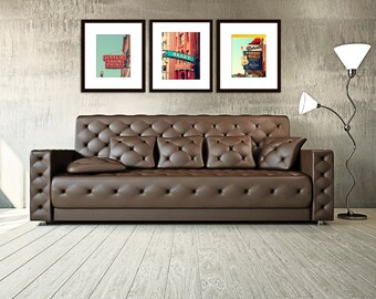 Nashville Wall Art nashville wall art industrial decor city photography set of 4