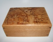 "Spalted Maple Burl Keepsake Box. 8.5"" x 6"" x 3.5"""