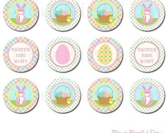 PRINTABLE Easter Bunny Egg Hunt Party Circles (Character of your choice) #411