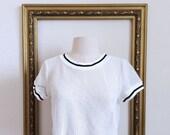 White Net Tshirt