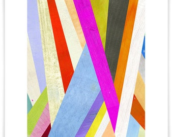 Diagonal Abstract Art, Giclee Print