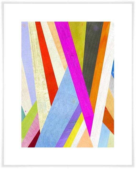Diagonal Abstract Art Print