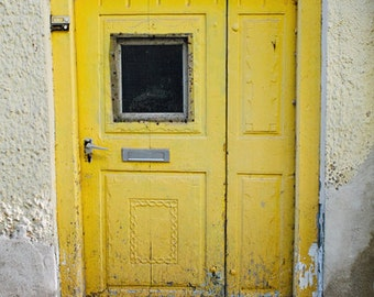 "Door Photography - Yellow Door in Germany - European Architecture Photography - Yellow Home Decor - Fine Art Photography ""YELLOW DOOR"""