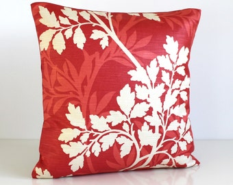 Red Pillow Cover, 16 Inch Cushion Cover, 16x16 Pillow Sham - Hedgerow Red