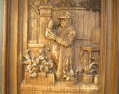 The Cactus Grower - German Wall Art - Plaque Based on Carl Spitzweg Im Ruhestand Painting - In Retirement - Eccentric Character