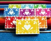 Papel picado match box magnets