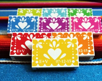 Papel picado match box magnets
