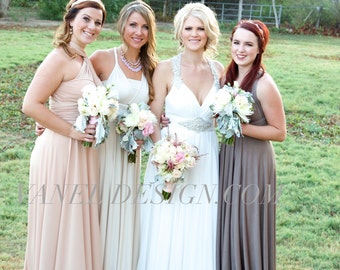 TAUPE Bridesmaid Dress Long Short Infinity Bridesmaids Dress -CONVERTIBLE Bridesmaids Dress,One Dress Endless Styles- 50 COLORS-
