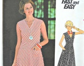 Butterick 4776 Dress Pattern, Size 12, Vintage 1970's