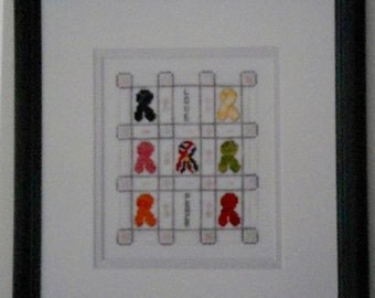 75%OFF Patricia Reymer RIBBONS OF Love Peace - Counted Cross Stitch Pattern Chart
