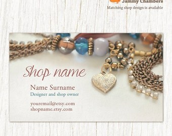 Business Card Template, Business cards, Jewelry Business Cards, Custom Business Card