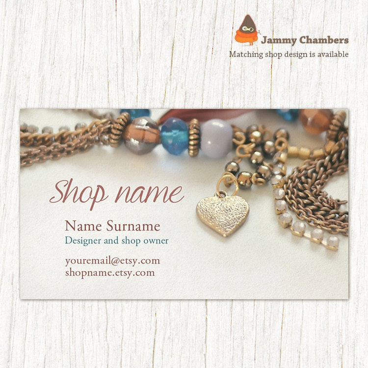 Business Card Template Business Cards Jewelry Business