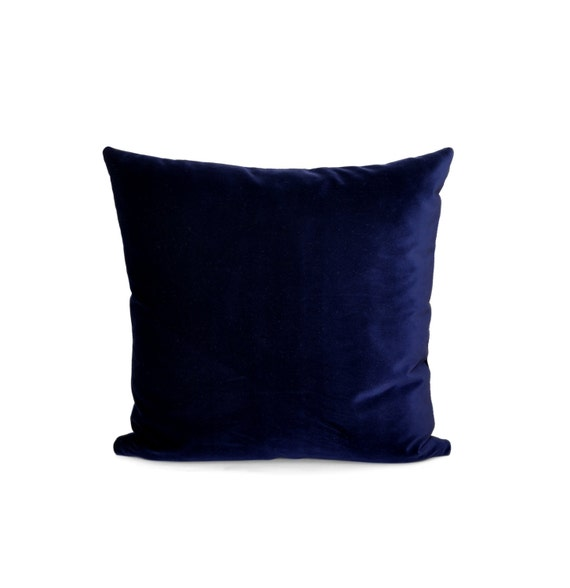 Blue Velvet Pillow Cotton Velvet Decorative Pillow by TMHstyle