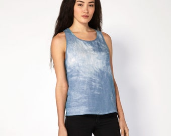 Washed Denim Tailored Tank