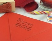 Return Address Stamp -- Custom, Personalized, Rubber, Wood Mounted, Gift, Wedding, Shower, Newlyweds, Housewarming