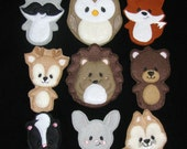 Forest Animals Finger Puppets Set- Felt Finger Puppets-Animal Finger Puppets-Quiet Time