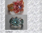 Tutorial ,Pattern,  Bead embroidery ,Beading pattern , Instructions only , Flower bracelet