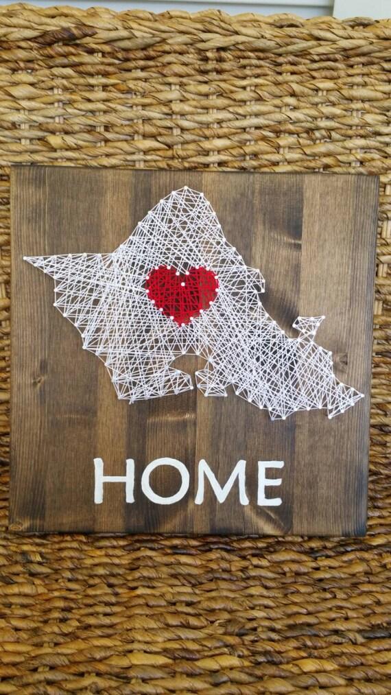 Oahu Home String Art Sign Hawaiian Home Decor