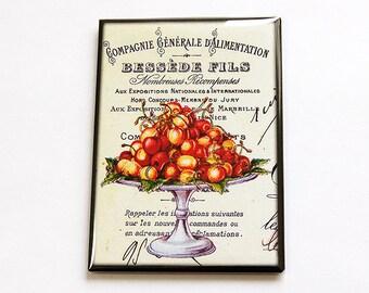 Food Magnet, Kitchen Magnet, Cherry Magnet, ACEO magnet, Fridge magnet, Cherries, Fruit, Canadian Made (4738)