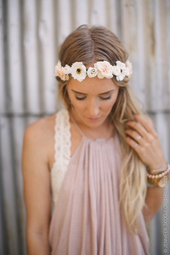 flower headbands for weddings floral boho ivory flower by threebirdnest 4196