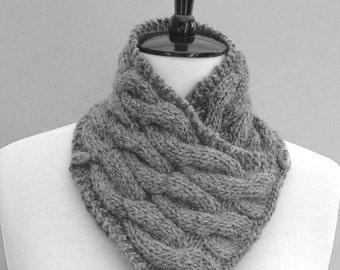 Knitting Pattern Infinity Scarf Easy Improving Beginner