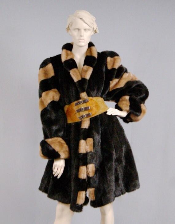 Couture H 233 L 232 Ne Vintage 80s Belgium Made Spectacular Vegan Fur
