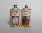 Pair of Disney Lenox Spice Jars The Aristocats and Robin Hood