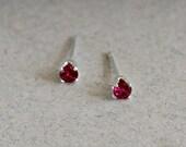 Small Garnet Stud Earring...