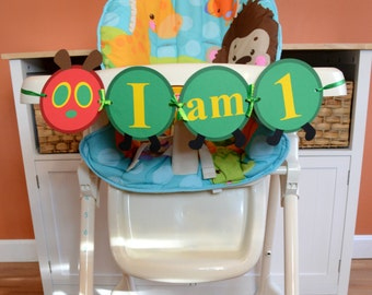 Very Hungry Caterpillar Banner, Very Hungry Caterpillar High Chair Banner, Very Hungry Caterpillar Chair Banner