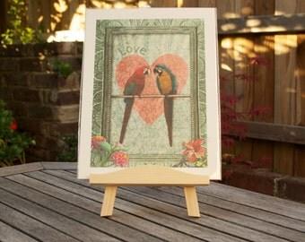 Love Birds - Vintage print