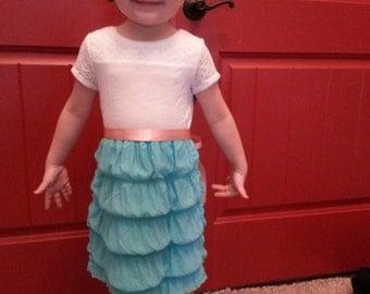 Girls turquoise dress