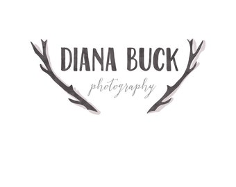 SALE* Premade Logo Design - One of a Kind Antlers Logo- Photography Business logo - Business Branding