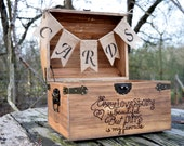Large Shabby Chic and Rustic Wooden Card Box - Rustic Wedding Decor - Wedding Card Box - Rustic Wedding Card Box - Wedding Chest