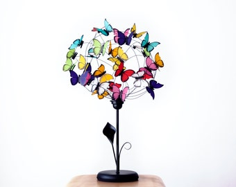 """Table lamp with paper butterflies """"Arum Lily"""""""