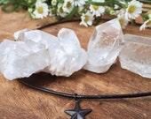 Black Star Choker - Layering Star Necklace - Boho - Gypsy Choker