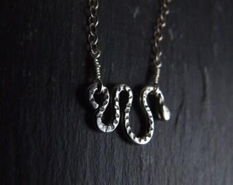 Snake Necklace ~ Sterling Silver, Animal Totem Jewellery