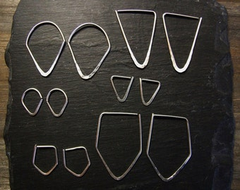 Geometric Hoops ~ Sterling Silver ~