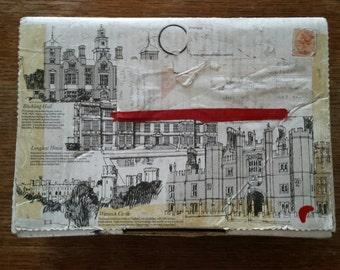 Vintage cardboard box, vintage packaging, printed box, postal box, royal mail vintage