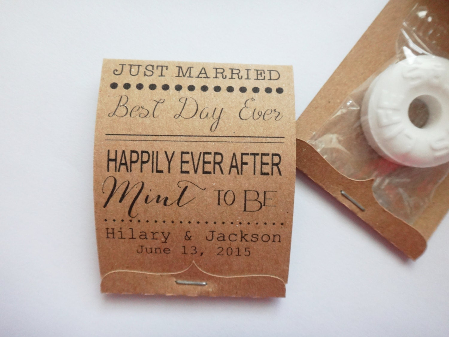 Wedding Personalized Matchbooks diy lifesaver wedding favors celebration blog favors